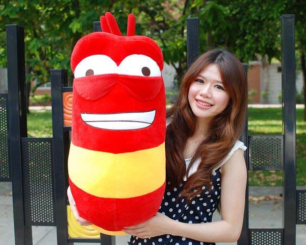 超大逗逗蟲娃娃~高約70公分~正版授權~逗逗蟲~豆豆蟲特大玩偶~最受歡迎玩偶