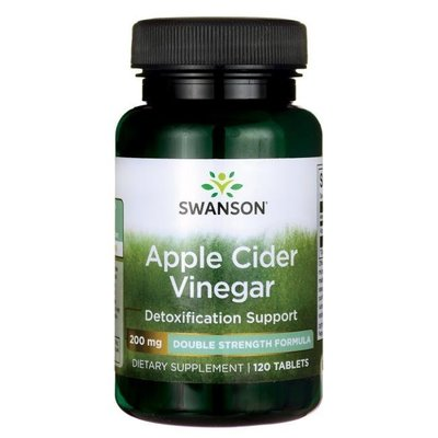 【 Swanson 】Apple Cider Vinegar蘋果醋錠 200 mg *120 顆