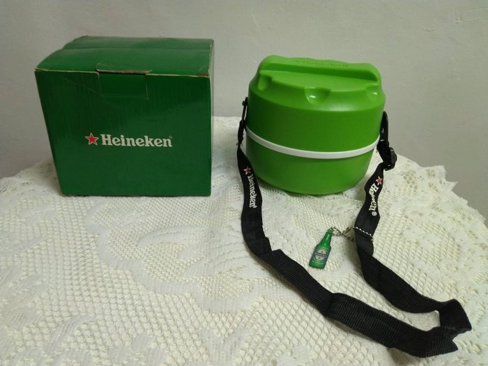 【全新】Heineken 海尼根 便當餐盒( 二層)---每組售價70元(可面交或全家取貨)