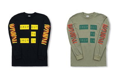 (A.B.E)DROP IN TO DROP OUT LS TSHIRT 長T 兩色