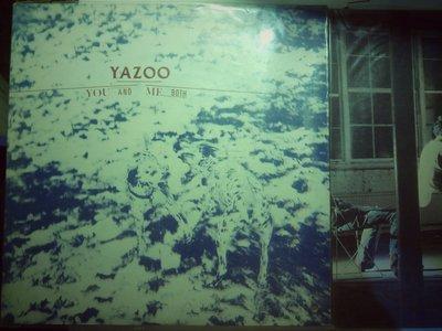 Yazoo 1983 You And Me Both 台版上揚黑膠唱片。封面右下打洞 有歌詞