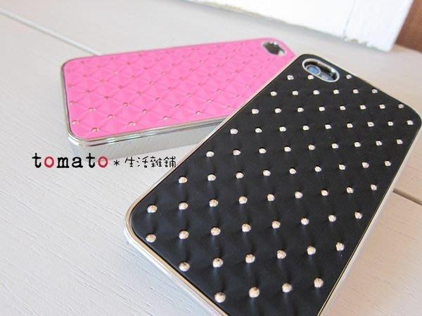 ˙TOMATO生活雜鋪˙韓國雜貨璀璨施華質感菱形格精緻水鑽IPHONE4/4S專用手機殼(出清)