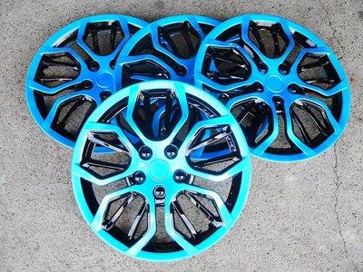 【吉特汽車百貨】仿BMW 藍黑款 改裝亮面款 仿鋁圈樣式 通用型 四片裝 13吋 14吋 通用型 輪圈蓋 鐵圈蓋 保護蓋