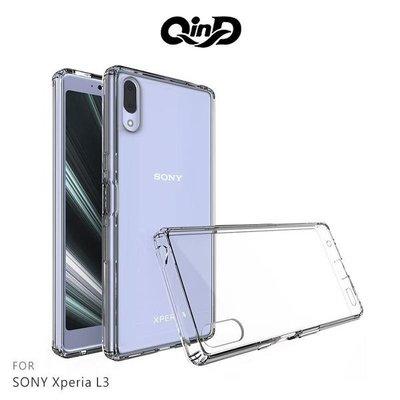 【愛瘋潮】QinD SONY Xperia L3 雙料保護套 高透光 PC硬背殼預購