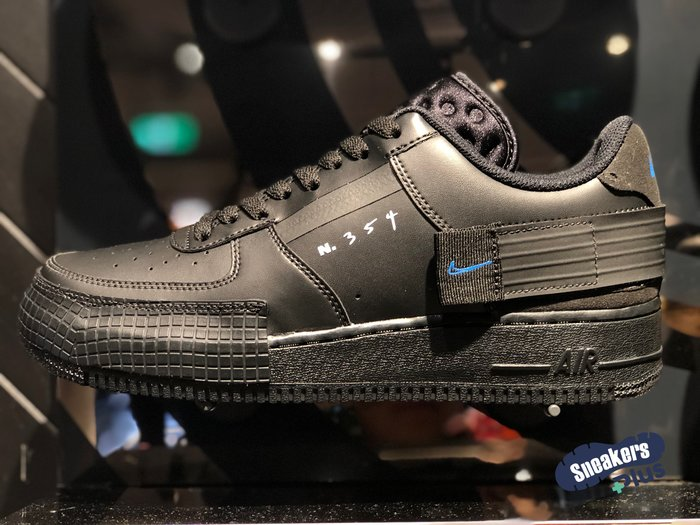 ➕sneakersplus➕Nike Air Force 1 type 男款 全黑 復古 休閒鞋 AT7859-001