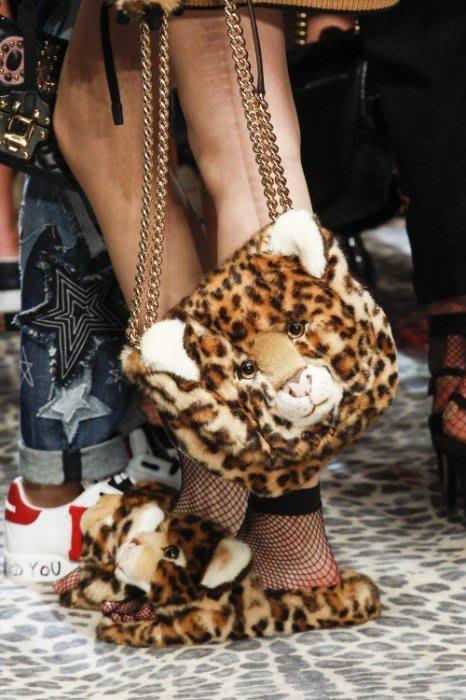Dolce   Gabbana BB6423 LEOPARD PLUSH 豹紋鍊帶包 bba51d27fc33f