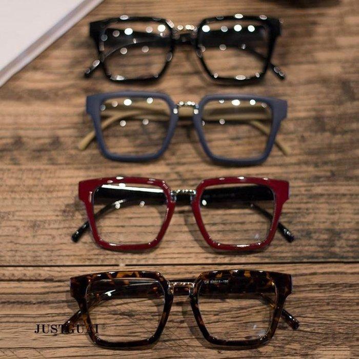 復古全框金屬板材眼鏡框韓版個性平光鏡架潮男女款可配鏡