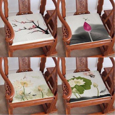 熱賣-中國風新中式坐墊復古紅木沙發椅墊...