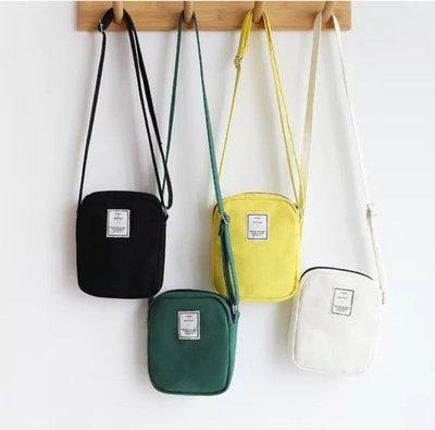 ღ~{ 現貨}~ ღ 帆布小包 斜挎小包 素色帆布袋 帆布斜背包 側背小包 手機包 單肩小包 側背包