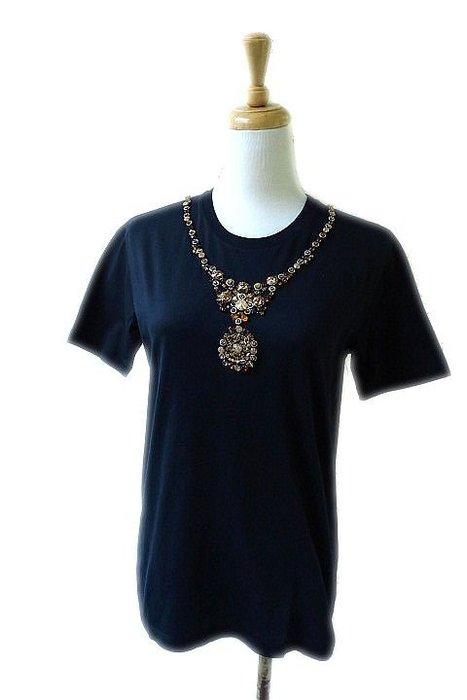 *Beauty*PRADA黑色短袖棉T恤(金色寶石)   M 號  15000     元WE18