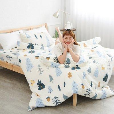 [SN]#U117#舒柔超細纖維5x6.2尺標準雙人舖棉兩用被床包四件組-台灣製(限單件超取)