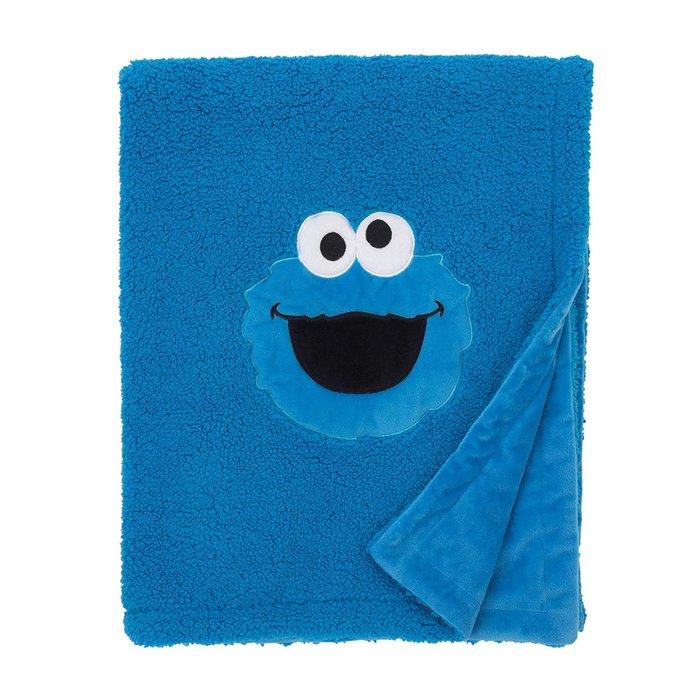 預購 美國嬰幼兒 Sesame Street 餅乾怪獸 寶寶小毛毯 推車毯 外出毯 刷毛 柔軟 冷氣毯 生日禮