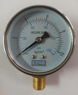 壓力表10KG、LEKS壓力錶、試水壓力表、空壓計、減壓閥、直式壓力表2吋2分牙