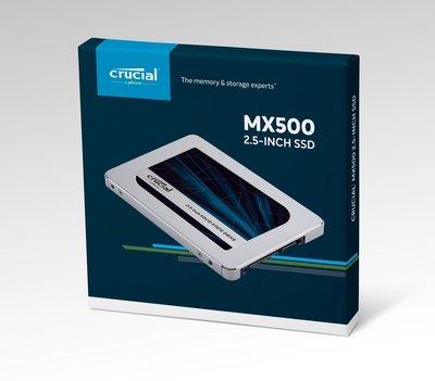 [免運 原廠全新品] Micron Crucial MX500 SSD 500G 500GB 2.5吋固態硬碟