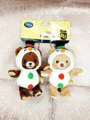 日本迪士尼Store限定商品 大學熊雪寶服裝造型公仔鑰匙圈吊飾(組)