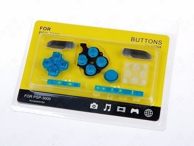 PSP3000 3007副廠按鍵組 青瓷綠【台中恐龍電玩】