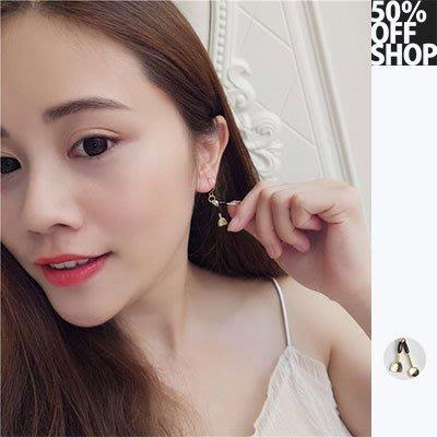 50% OFF SHOP 個性不對稱小鍋鏟耳環耳夾【003358BHBE】