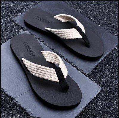 ZIHOPE 人字拖男士夏時尚外穿韓版潮軟底防滑橡膠海邊沙灘鞋室外拖鞋ZI812