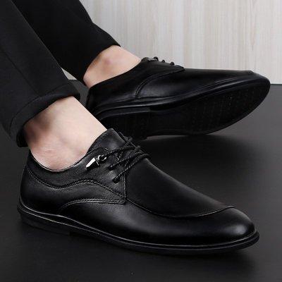 【時尚先生男裝】大碼男鞋休閑男鞋潮鞋子休閑鞋真皮英倫頭層牛低幫男士休閑皮鞋 2005240908
