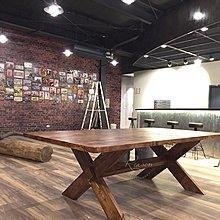 Reason Loft X型工業風原木桌 會議桌 餐桌(尺寸可客製)