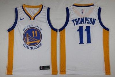 NBA勇士隊11號電繡版球衣 克雷 湯普森 Klay Thompson球衣 白色