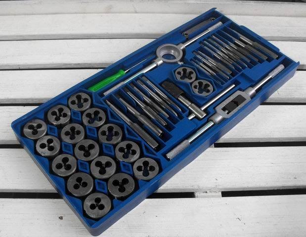 【買家購】絲錐扳手絲錐絲攻~40件組絲錐板牙絲錐板牙套裝.攻牙組.