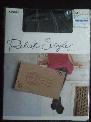 7-5a/NEW<日本製Relish 黒灰色雙色點線褲襪>M~L/¥1260