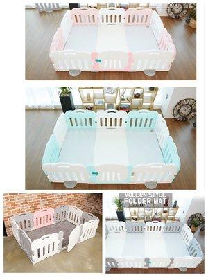 BabyWeather韓國代購售價含運 Caraz正品遊戲圍欄組10片組 含門+地墊 直寄到府