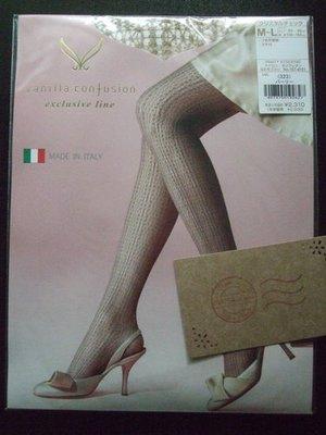 4c-18a/NEW<日本vanilla confusion義大利製 膚色水晶格編織網褲襪>M~L/¥2310