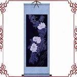 【蠟染卷軸畫-豎式-86款--1件/組】蠟染卷軸畫貴州壁畫壁掛(含盒)-35008