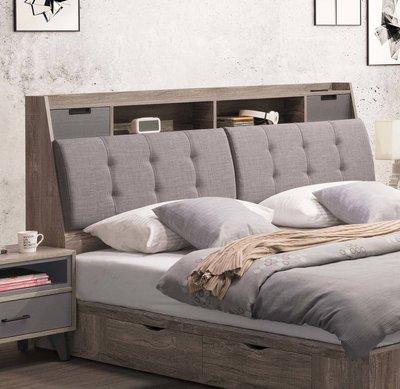 【生活家傢俱】SY-9-1※奧蘭多5尺雙人床頭箱【台中7300送到家】床頭可收納 插座 防潑水亞麻布+木心板 台灣製造