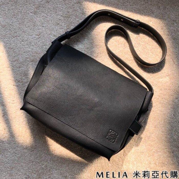 Melia 米莉亞代購 商城特價 數量有限 每日更新 19ss LOEWE 郵差包 單肩斜背包 獨特風格 黑色