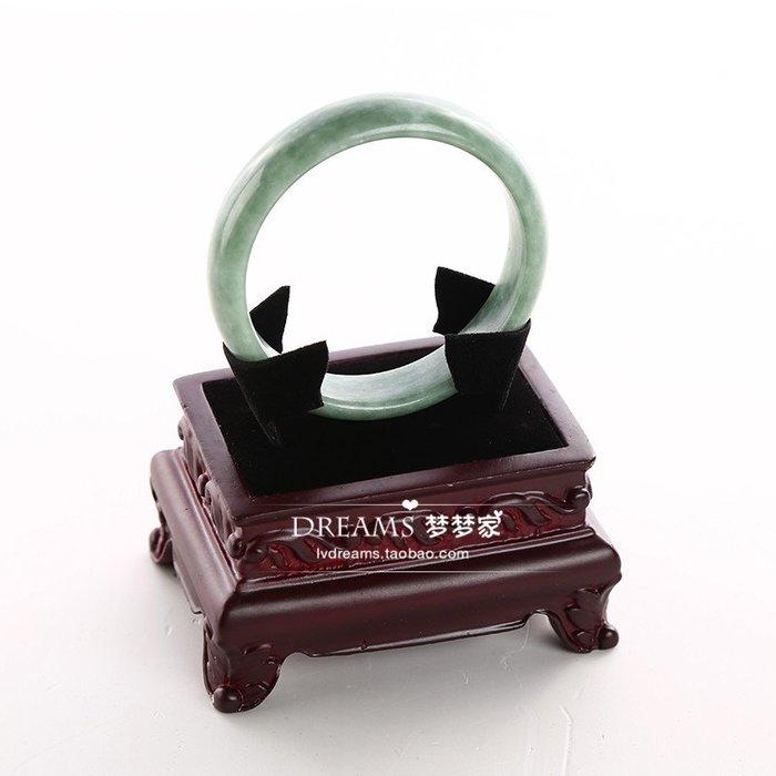 聚吉小屋 #清倉玉器展示座仿古手鐲架手鏈托噴漆展示架道具展臺方鼎飾品架