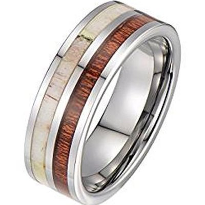 coi jewelry tungsten carbide deer antler wedding band ring 戒指all sizes