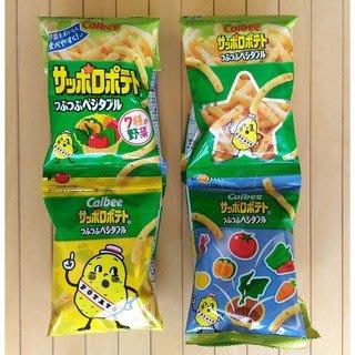 【新貨】日本 calbee 卡樂比 7種野菜薯條 蔬菜餅乾 寶寶餅乾 蔬菜餅乾 幼兒餅乾 野菜餅乾 4連包 薯條4連包