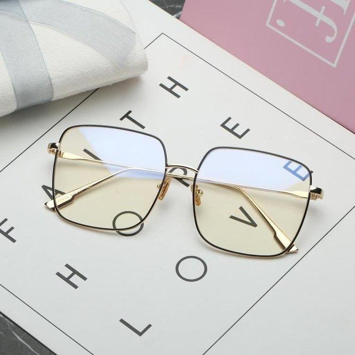 眼鏡男網紅周揚青眼鏡框女金絲大框復古眼睛三角衣櫥