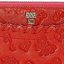 anna sui安娜蘇~牛皮製~編織刻花長夾~日本帶回~全新正品~預購~免運費~日本代購313181