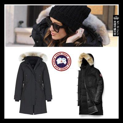 ♔MissyJ英國代購♥ Canada Goose Parka 加拿大鵝肯辛頓修身黑色連帽狼毛領禦寒派克大衣防風羽絨外套