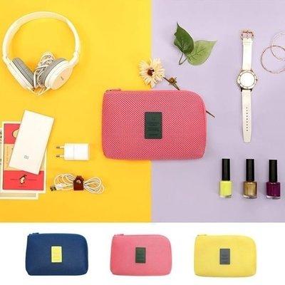 韓版 小飛機收納網格袋 數位收納包 旅行 行動電源 收納包 USB傳輸線 手機 化妝包 零錢包手拿包手機包【RB384】