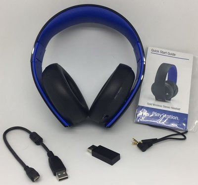 100% 全新第三代 Gold Wireless (7.1) Headset 無線金耳機(美國Outlet 貨) for PS4/PSVITA/PC/Mac