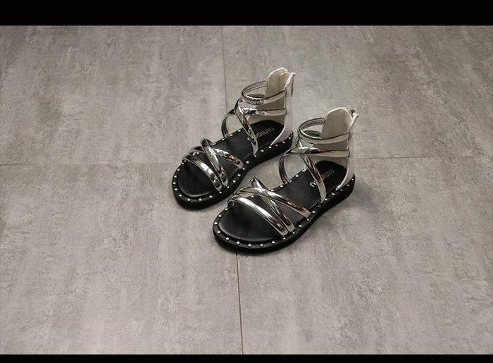 女童涼鞋2018新款公主鞋韓版女孩羅馬涼鞋夏季兒童休閑鞋子學生鞋