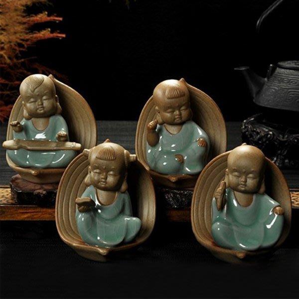 5Cgo【茗道】含稅會員有優惠 532163245855 茶道配件茶台擺件茶寵小和尚茶玩茶寵精品擺件創意純手工茶趣茶寵