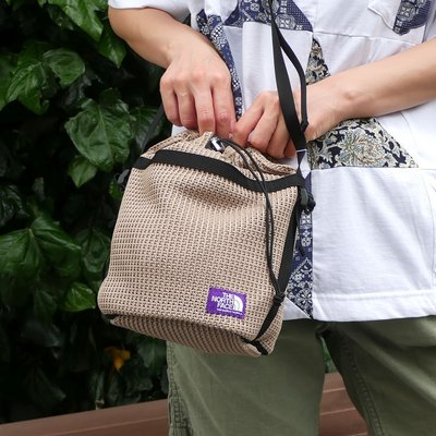 TSU日本代購 THE NORTH FACE PURPLE LABEL Mesh Bag 編織 水桶包 紫標