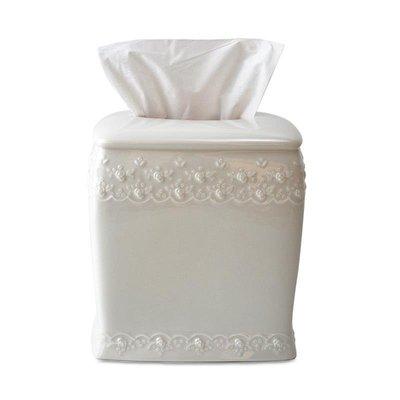 千禧禧居~Simply Shabby Chic簡約陶瓷家用酒店抽紙盒北歐餐廳客廳紙巾盒