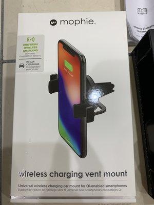 Mophie 無線車充 wireless charging vent mount