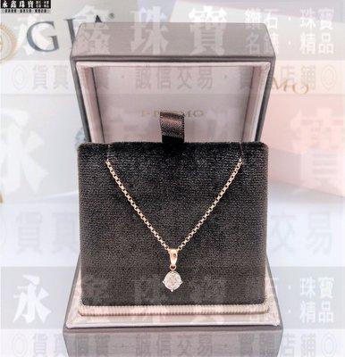 日本 I-PRIMO GIA鑽石項鍊 0.50ct G/VS1/3EX 18K玫瑰金 n0745