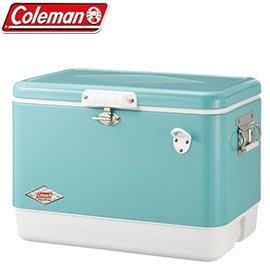 【偉盟公司貨】丹大戶外【Coleman】美國51L美國藍經典鋼甲冰箱/冰桶置物箱/CM-03739