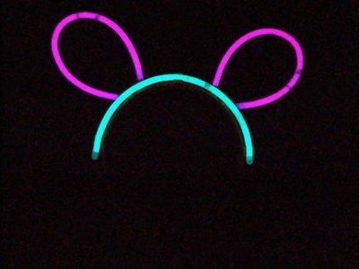 【夜市王】亮光髮箍 螢光棒 夜光髮夾 髮卡螢光棒配件 螢光髮夾 9元