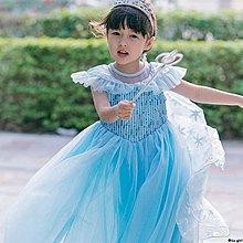 ✿Lu girl 艾莎愛莎連衣裙冰雪奇緣公主裙夏季禮服蓬蓬紗女童六一表演演出服JU19