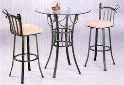 INPHIC-田園鐵藝吧臺椅 休閒椅 鐵藝咖啡椅 鐵藝酒吧椅 鐵藝餐桌椅